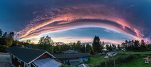 Miraculous Panorama Of Sunset ...