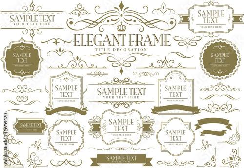 Slika na platnu Vector set frames and vignette for design template