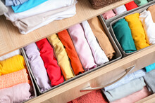 Open Drawer With Clean Clothes...