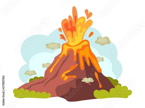 Natural disasters volcanic eruptions Fototapet