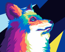 Colorful Wolf Close Up