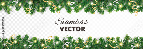 Foto Seamless holiday decoration