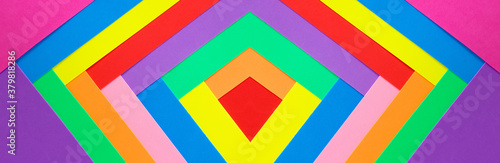 An abstract geometric textured background of multicolored rainbow colors created Fotobehang