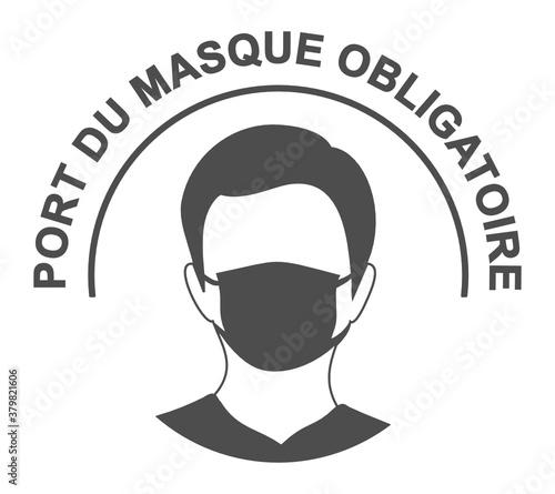 port du masque obligatoire covid 19 coronavirus - 379821606