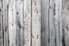 Wooden Boards On The Fence As ...