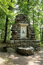 Old Memorial Of Monastery Or Castle In The Middle Of Woods