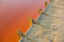 Salt Evaporation Lake Shores. ...
