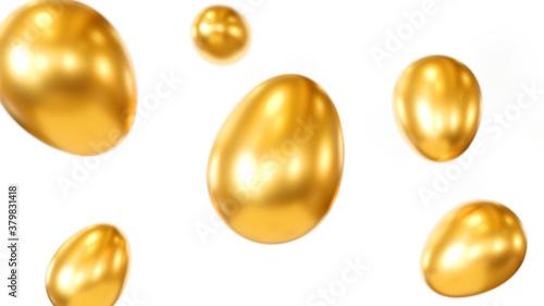 Photo 金の卵、3Dレンダリング
