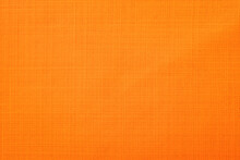 Orange Linen Fabric Of Table Cloth Texture Background