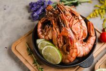 Beautiful Dish Of Huge Shrimp ...