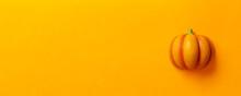 Pumpkin On Color Background. H...
