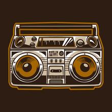 Old Radio Compo Vector Illustr...