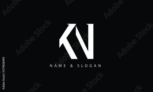 Fototapeta KN, NK, K, N abstract letters logo monogram obraz