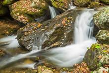 Small Water Fall In Autumn