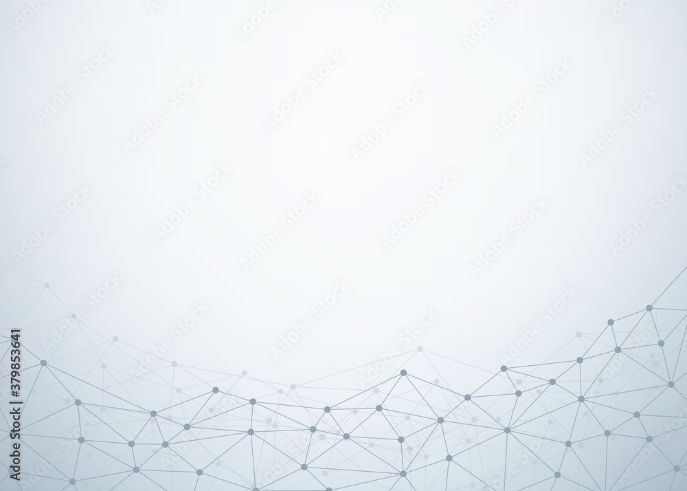 Fototapeta Abstract technology background. Polygonal with connecting dots and lines. Data and technology concept, network connection