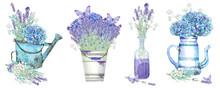 Clip Art Set With Hydrangeas, ...