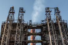 Smoke Raising From Factory Chimney