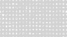 Icon Set. Seamless Pattern. Ve...