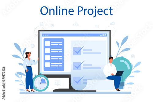 Obraz na plátně Project management online service or platform