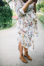 Beautiful Pregnant Woman In A ...