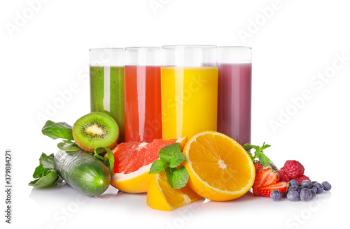 Foto Fresh and natural healthy juices