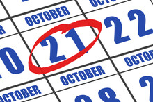 October 21st. Day 20 Of Month,...