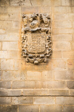 Coat Of Arms On A Stone Medieval Facade