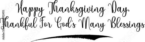 Fotografie, Obraz Happy Thanksgiving Day