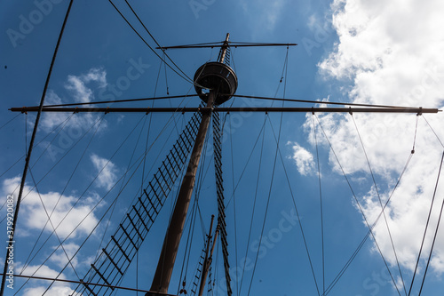 Fotografie, Obraz Replica of a Portugees ship in the port of Melaka, old town in Malaysia