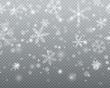 Snow, Snowfall, Snowflakes.
