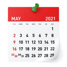 May 2021 - Calendar