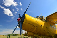 Close-up View Of An Old Yellow...