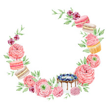 Watercolor Bakery Round Wreath...