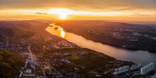 Panorama Of The Evening City O...