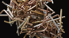 Close Up Of Pile Of Allen Wrenches Or Hex Keys