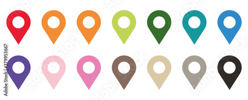 Fotografija Colored set of map pointers