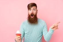 Redhead Man With Long Beard Ho...