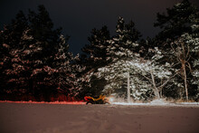 ATV Parked On Snow