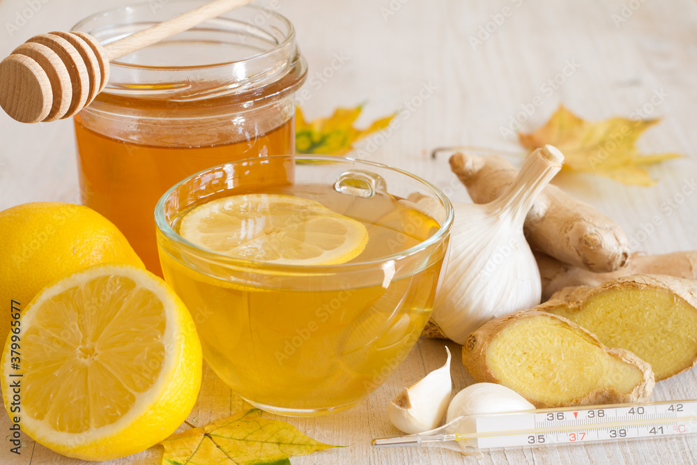 Fototapeta Home remedies for cold and flu