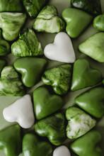 Green Heart Shaped