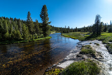 Firehole River Along The Lone ...