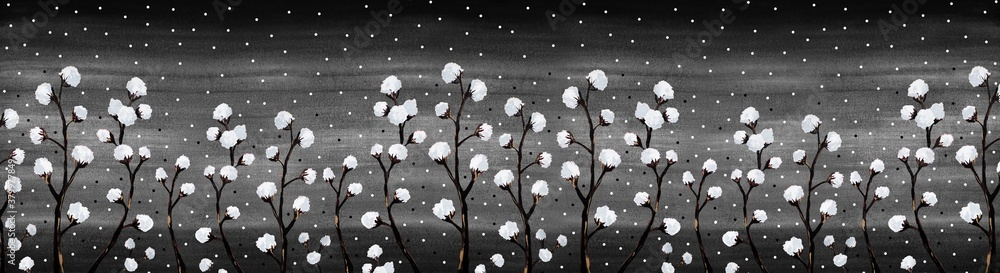 cotton in the moonlight
