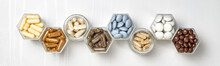 Various Capsules And Pills Wit...