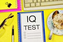 IQ Test - A Text Label In The ...
