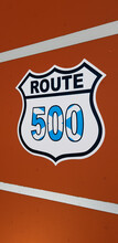 The Route 500 Roadsign In Scotland