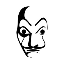 Salvador Dali Style Face Mask ...