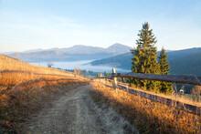 Autumn Mountain Landscape, Roa...