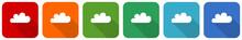 Cloud Icon Set, Flat Design Ve...