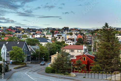 Fotografia, Obraz Torshawn city, the capital of The Faroe Islands