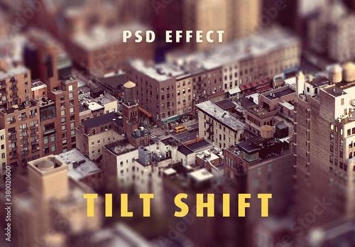 Fototapeta Miniature Tilt Shift Photo Effect Mockup obraz